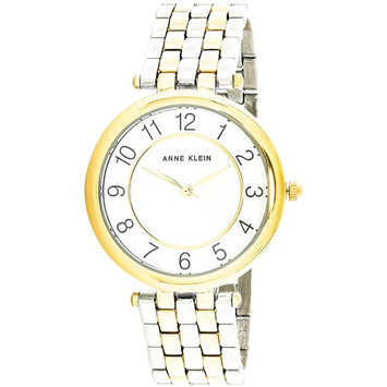 Anne Klein Women's AK-2701WTTT Gold Stainless-Steel Japanese Quartz Fashion Watch