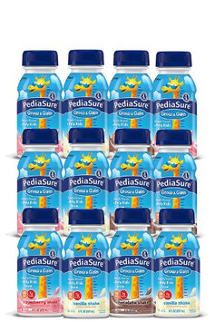 West End Foods PediaSure Grow & Gain, Nutritional Protein Shake for Kids 8 fl oz Variety Pack Drinks with Strawberry, Chocolate, Vanilla. Contains 25 Vitamins, Minerals, Suitable for Lactose Intolerance (Pack of 12)