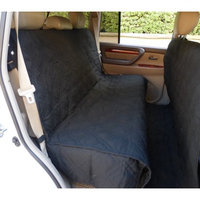 Formosa Covers Deluxe Quilted and Padded car seat cover with Non-Slip Fabric in Seat Area for Pets Black