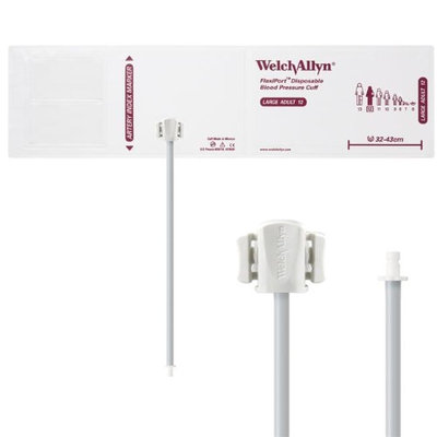 Welch Allyn WEL SOFT-12-1HP Flexiport Blood Pressure Cuff for Bayonet Connector Large Adult - Pack of 20