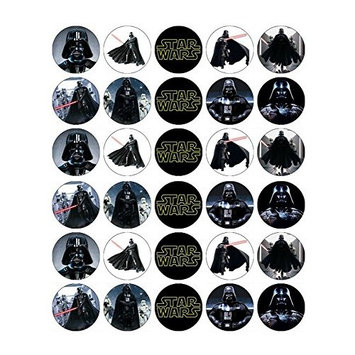 Star Wars Darth Vader Cupcake Toppers Edible Wafer Paper BUY 2 GET 3RD FREE
