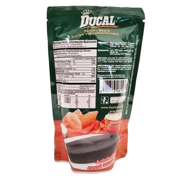 Ducal Refried Black Beans 8 oz - Frijoles Negros Refritos (Pack of 42)
