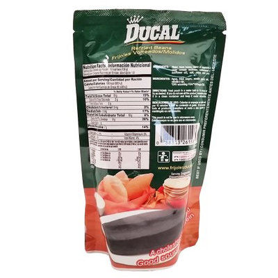 Ducal Refried Black Beans 8 oz - Frijoles Negros Refritos (Pack of 36)