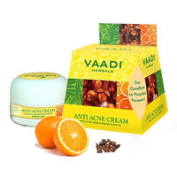 Anti Acne Skin Cream. Reduces the Apperance of Fine Lines and Wrinkles. Prevent Scar, Pigmentation Markes, Dark Patches and Blemishes. Removes Pimples and Blackheads Without Leaving Scars. All Natural Formula. Completly Therapeutic Cream Made with Clove Oil, Neem Oil, Tea Tree Oil and Orange Peel. Prevents Premature Aging. Suitable for All Skin Types and Both for Men and Women. Moisturizing and Softening Lotion. - 30 Grams - Vaadi Herbals