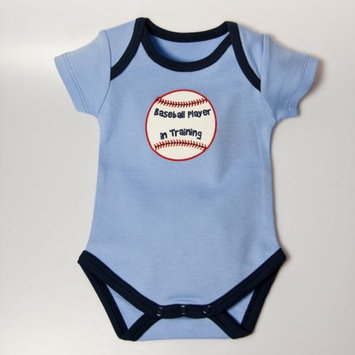 Little Ashkim BBBASEBBS1218 Baseball Bodysuit - Blue 12-18 months