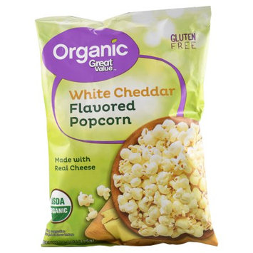 Great Value Organic White Cheddar Flavored Popcorn, 4.4 oz