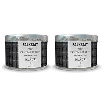 Falksalt Crystal Flakes Natural Sea Salt/ BLACK (Pack of 2)