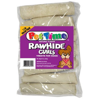 Ims Trading Corporation IMS Trading 10040 Naturals Rawhide Curls - 1 lbs.