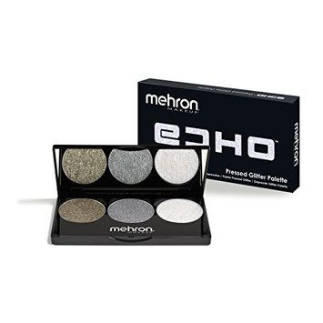 Mehron Makeup 3 Shade Echo Pressed Glitter Palette (Gold, Silver and Opalescent)