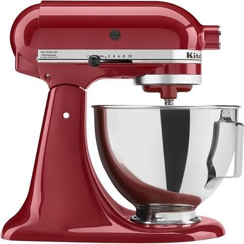 KitchenAid Kitchen Aid Tilt-Head Stand Mixer 4.5 Quart KSM85PBER, Empire Red