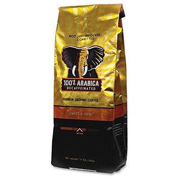 Westrock 100% Arabica Decaffeinated Ground Coffee - Decaffeinated - Arabica - Medium - 12 oz Per Bag - 1 Each