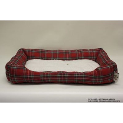 DestiDesign Rectangle Checkered Dog Bed