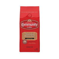 Community Coffee Toasted Hazelnut Flavored Medium Roast Premium Ground 12 Oz Bag (3 Pack), Medium Full Body Smooth Nutty Taste, 100% Select Arabica Coffee Beans