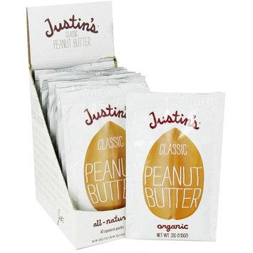 Justin's Nut Butter, Classic Peanut Butter, 10 Squeeze Packs, 1.15 oz (32 g) Per Pack [Flavor : Classic]
