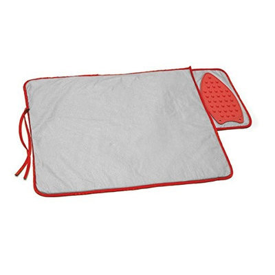 Perfect Life Ideas Ironing Mat Pad with Built-in Silicone Heat Resistant Flat Iron Holder Rest