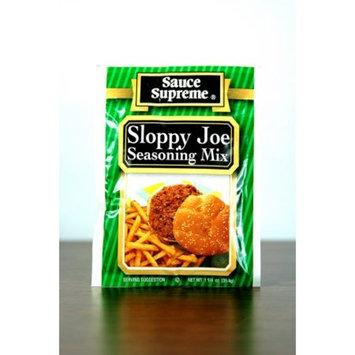 Pack of 24 Sauce Supreme Sloppy Joe Seasoning Mix 1.25 oz. #30008