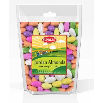 SUNBEST Assorted Pastel Color Jordan Almonds JUMBO 3 Lb in Resealable Bag (48 Oz)