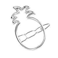 Freedi Women Cute Pineapple Hair Clips Pin Creative Hair Accessories for Girl Fashion Silver