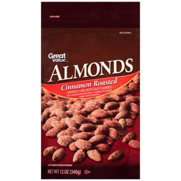 Wal-mart Stores, Inc. Great Value Cinnamon Roasted Almonds, 12 oz