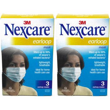 2 Pack Nexcare Earloop Masks 3 Count Each