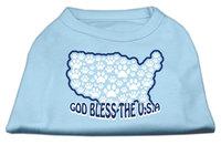 Mirage Pet Products 511705 XLBBL God Bless USA Screen Print Shirts Baby Blue XL 16