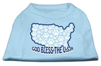 Mirage Pet Products 511705 SMBBL God Bless USA Screen Print Shirts Baby Blue S 10