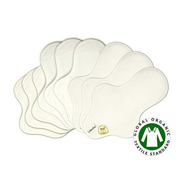 9 Organic Cloth Pads Set / Cotton Reusable Cloth Menstrual Pads Organic / Cloth mama pads PUL - 3 Light day flow, 3 Medium, 3 Heavy flow pads