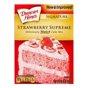 Pinnacle Foods Duncan Hines SIGNATURE LAYER CAKE MIX Strawberry Supreme 15.25 Oz