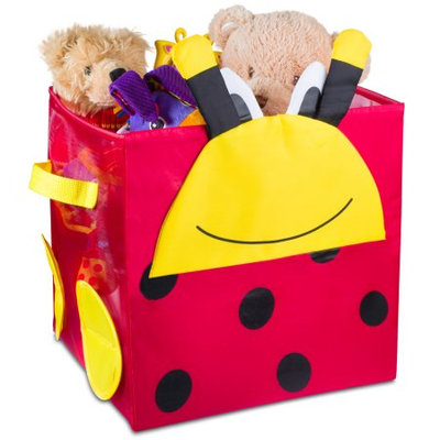 Handy Laundry Kids Foldable Cube Storage Bins - Ladybug