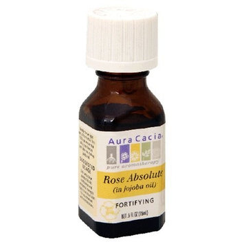 Aura Cacia Pure Aromatherapy, Rose Absolute, Fortifying, .5-Ounces by Aura Cacia