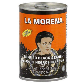 La Morena Refried Black Beans, 15.52 oz, (Pack of 12)