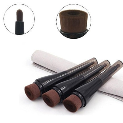 Fabal Concave Double-end Liquid Face Blush Brush Foundation Cosmetic Makeup Tools