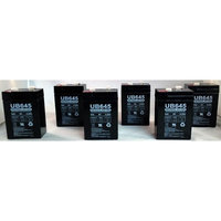 6 Volt 4.5 Ah New Battery for Hubbell 0120255 or Dual-Lite 12-255 - 6 Pack