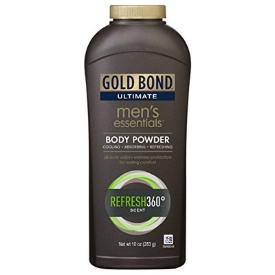 Gold Bond Ultimate Men's Essentials Body Powder Refresh 360 Scent 10oz Each