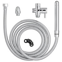 Cloud 9 Novelties Deluxe Enema Douche Premium Shower Kit with 2 Tips and 6 Foot Flexible Hose