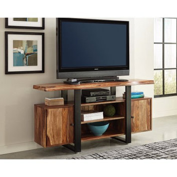 Benzara Appealing Wooden tv console, Black and Brown