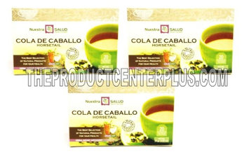 Nuestra Salud Cola de Caballo Te - Horsetail Filter Herbal Tea Value Pack (60 tea bags)