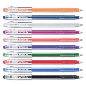 Pilot FriXion ColorSticks Erasable Gel Ink Pens, Assorted, 0.7mm, 10/Pack