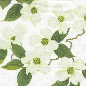 Entertaining with Caspari White Blossom Paper Luncheon Napkins, Pack of 20 [Lunch]