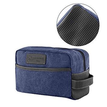 Mens Toiletry Bag Vintage Canvas Wash Shower Organizer Waterproof Shaving Kit Travel Bag Portable Dopp Kit