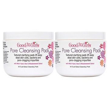 Good For You Girls Pore Cleansing Toner Pads refresh and remove pore clogging impurities. Two Pack with 50 Pads each by Good For You Girls