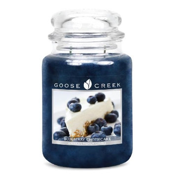 Goose Creek 26-Ounce Blueberry Cheesecake Essential Jar Candle with Glass Lid