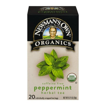 Newman's Own Organics Newmans Own Organics 292270 Peppermint Herbal Tea 20 Bag - Pack of 6