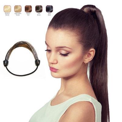 Buy 2 Hollywood Hair Elastic Hair Tie and get 1 Double Braid Headband - Dark Brown (Pack of 3)