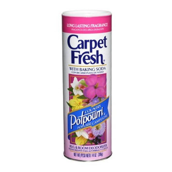 Carpet Fresh 276147 Rug and Room Deodorizer with Baking Soda 14 oz Country Potpourri Fragrance (Pack of 12)