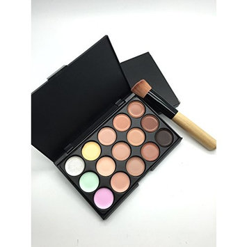 15 Color Concealer Camouflage Cosmetic Palette Set Makeup Salon with Free Brush