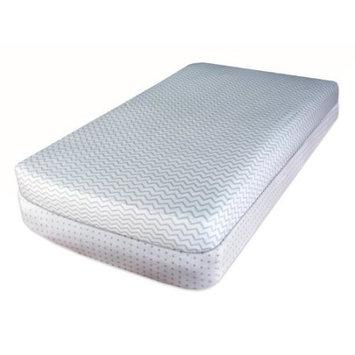 Ely Baby Crib Sheet Set 100% Jersey Cotton 2 Pack - Grey Chevron and Polka Dots