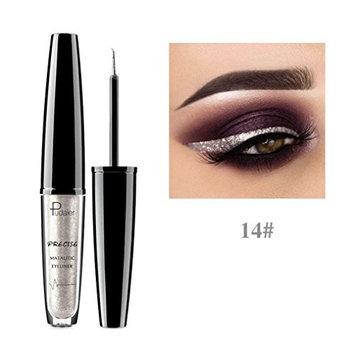 Liquid Glitter Eyeliner DEESEE(TM) 16 Color Beauty Metallic Shiny Smoky Pearly Waterproof Non-Stick Glitter EyeShadow Liquid Eyeliner