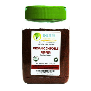 Indus Organics Chipotle Chili Pepper Powder, 8 Oz Jar, Premium Grade, High Purity, Freshly Packed