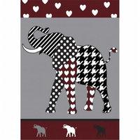 Jozie B 754 Maroon & Black Elephant Flag Large